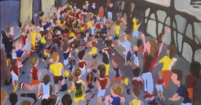 Runner's art recaptures Boston Marathon's joy and whimsy