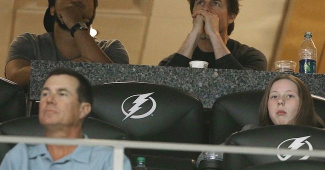 Actor Tom Cruise attends women's Final Four game