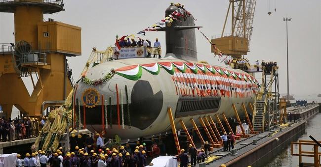 Image of Asia: New attack submarine undocks in India