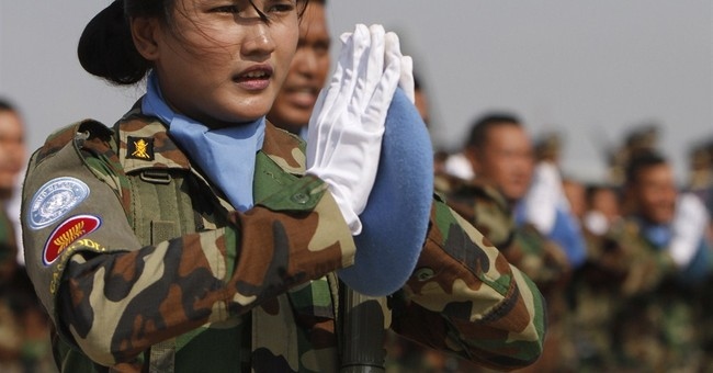 Image of Asia: Cambodian soldiers ready for UN mission