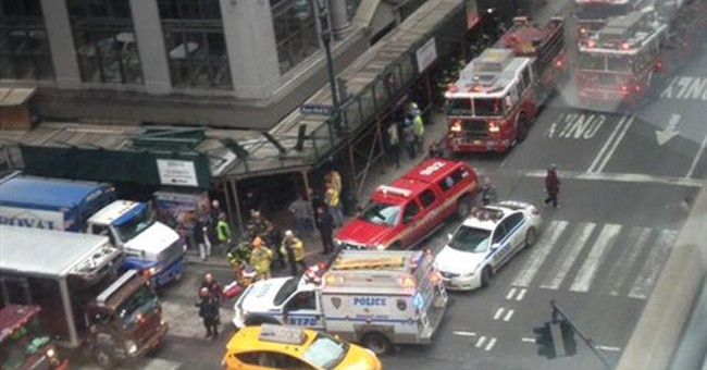 4 injured in banister collapse at New York City building
