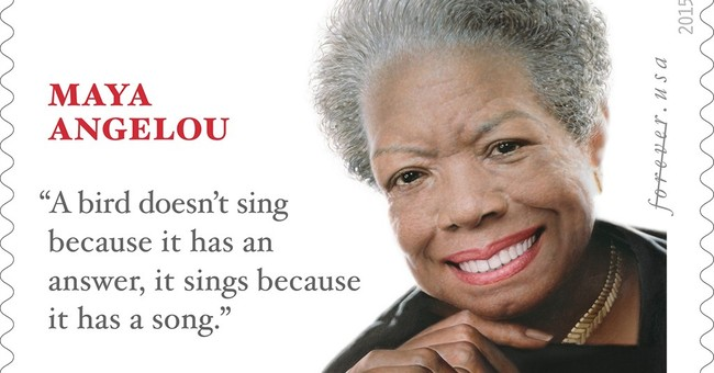 Quote on Angelou stamp apparently came from another author