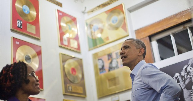 WHITE HOUSE NOTEBOOK: Nuttin' but love for Obama in Jamaica