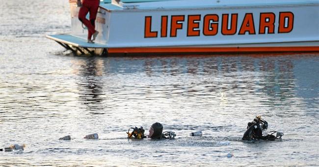 Car plunges into LA harbor; 1 boy dead, 1 in grave condition