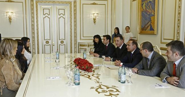 Kardashians visit Armenian memorial