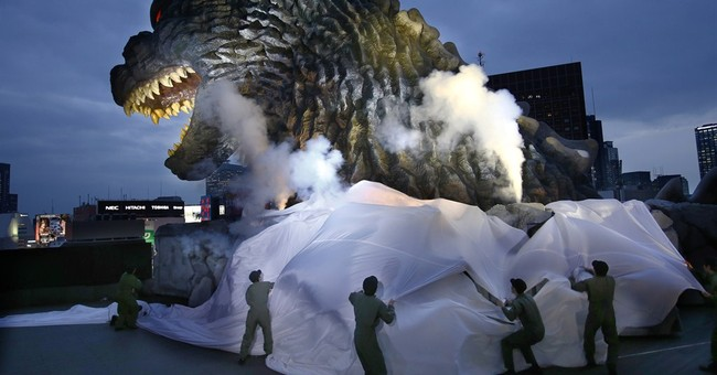 Godzilla welcomed in Tokyo _ to lure visitors, not to scare