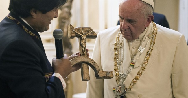 Pope Francis Not Too Thrilled With Hammer and Sickle Crucifix Gift