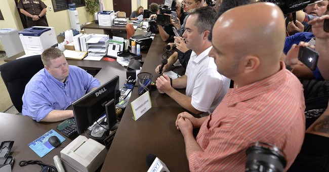 Gay Couples Receiving Marriage Licenses in Rowan County
