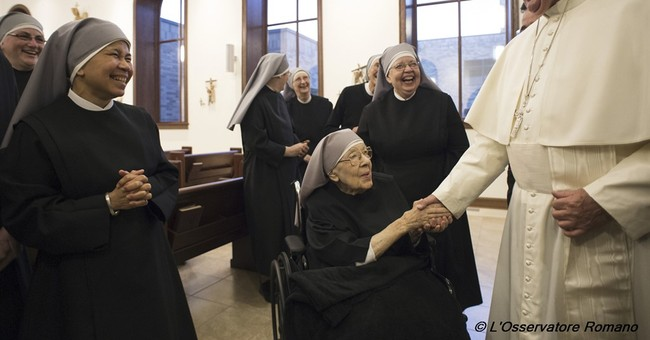 Pope Francis Makes Unscheduled Visit to Little Sisters of the Poor