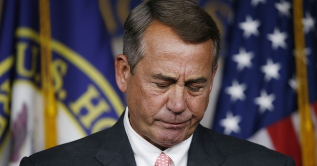 Boehner Resigned? Good. Go Cry, Drink And Surrender Somewhere Else.