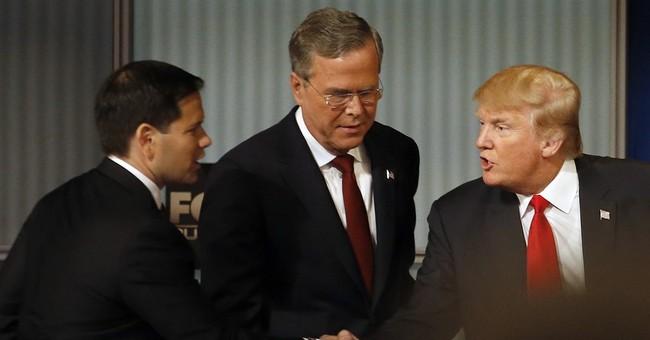"""From Outsider to Establishment Leader, Rubio """"Trumps"""" Bush"""