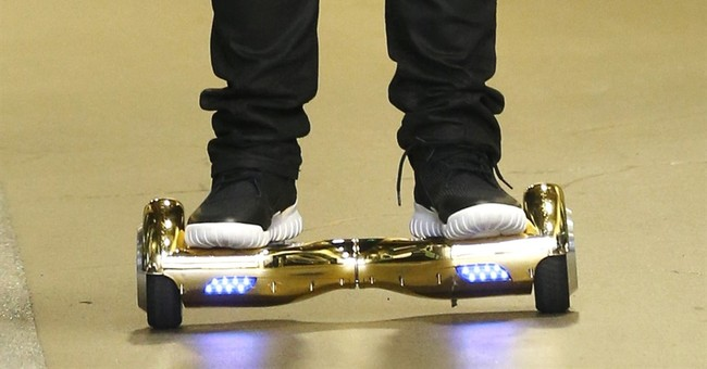 Florida Congressman Hurt on Hoverboard