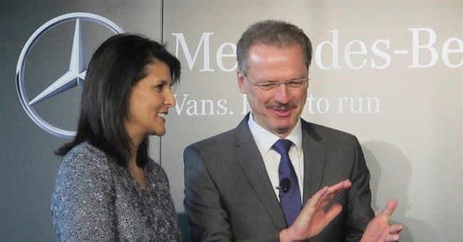 Daimler to build south carolina plant creating 1 300 jobs for Jobs at mercedes benz charleston sc