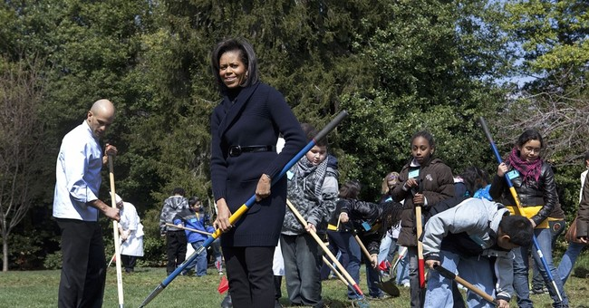 White House South Lawn becomes first lady's grassy stage