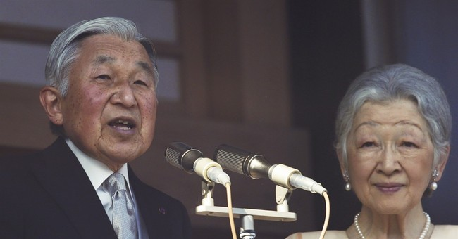 Japan's emperor wishes for peace in New Year's appearance