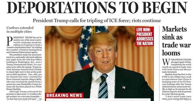 Boston Globe prints fake front page satirizing Trump
