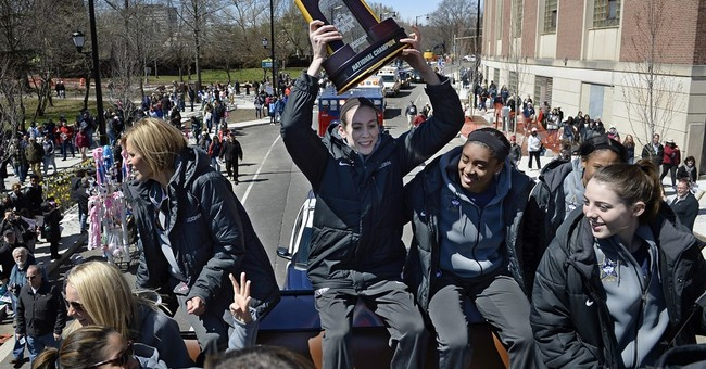 UConn celebrate NCAA women's title with victory parade