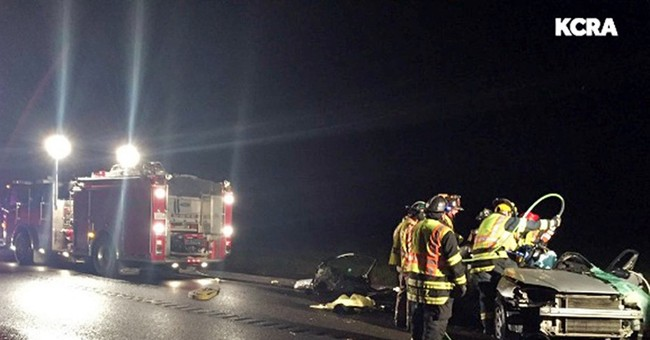 The Latest: 2 identified in deadly crash in California