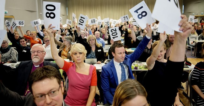 Norway's state church votes in favor of same-sex marriages