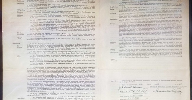 Jackie Robinson's Brooklyn Dodgers contract on view in NYC