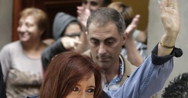 Ex-Argentine president in court in central bank fraud probe