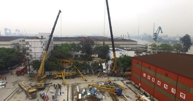 Crane collapse at China construction site kills 18