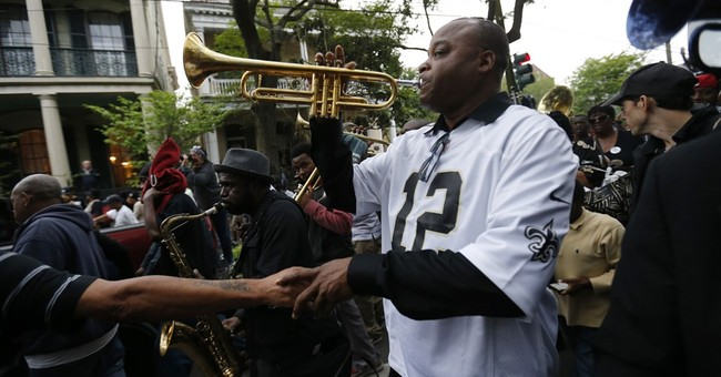 Wearing Saints black and gold, fans of Will Smith pay homage