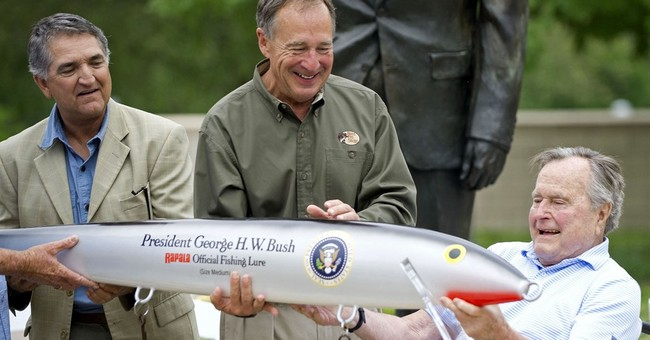 Fishing fan George H. W. Bush gets giant replica lure