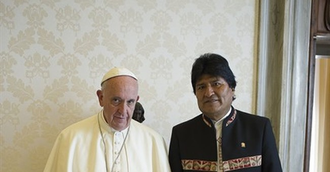 Morales again raises eyebrows with papal gift