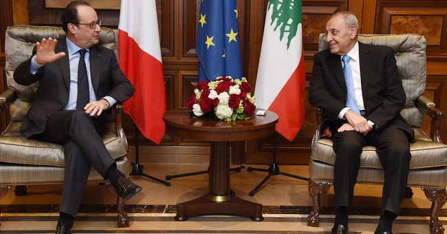 French president vows support for Lebanon during visit