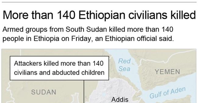 Ethiopia: Armed group kills more than 140 near South Sudan