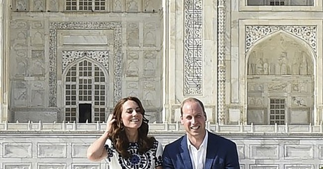 Following Diana's footsteps, British royals visit Taj Mahal
