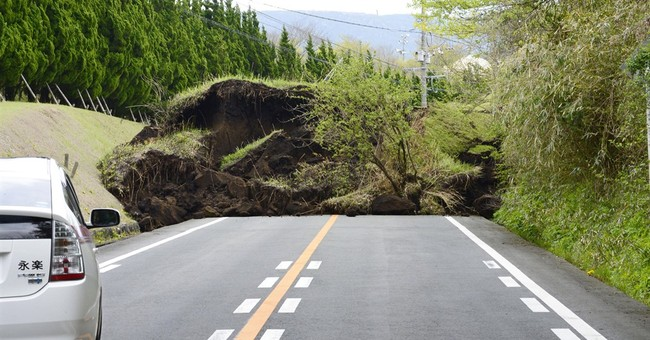 The Latest: Number of people In Japan quake shelters doubles