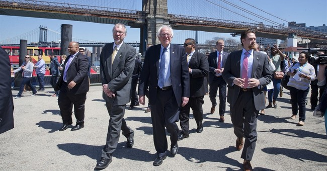 Clinton, Sanders dash about New York days before primary
