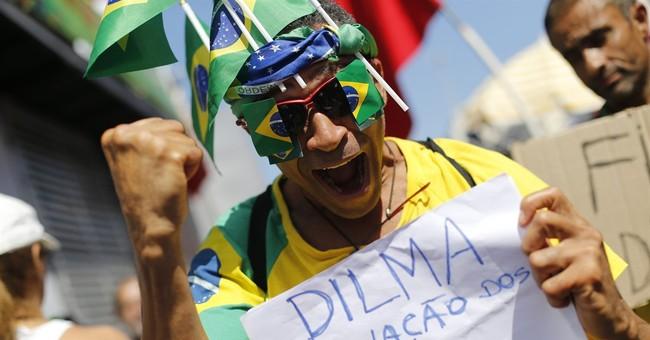 The Latest: Brazilian legislators vote to impeach Rousseff