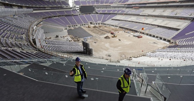 Work on new Minnesota Vikings stadium 95 percent complete