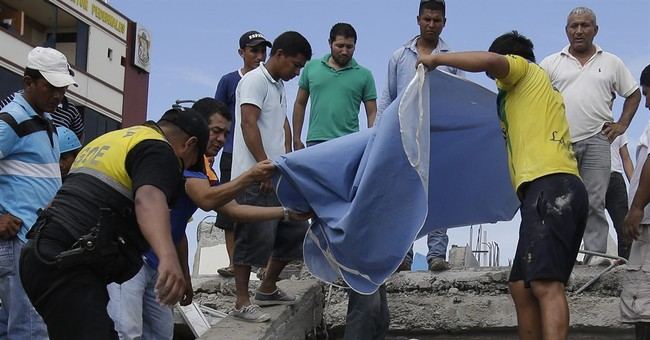 The Latest: Ecuador says death toll from quake jumps to 413