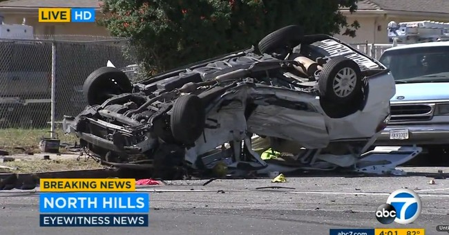 1 killed, 8 injured as minivan, SUV crash in Los Angeles