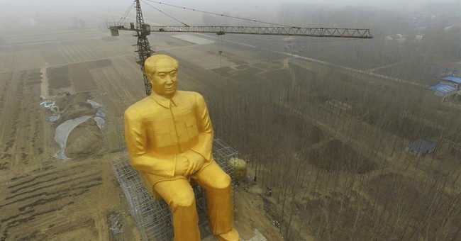 Giant golden statue of Mao demolished in central China