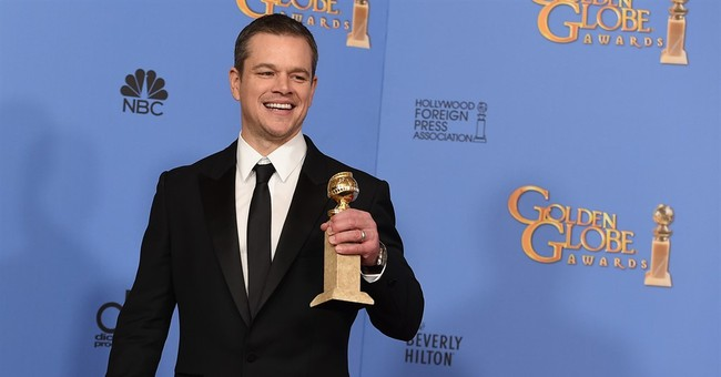 Matt Damon of 'The Martian' wins Globe for comedy actor