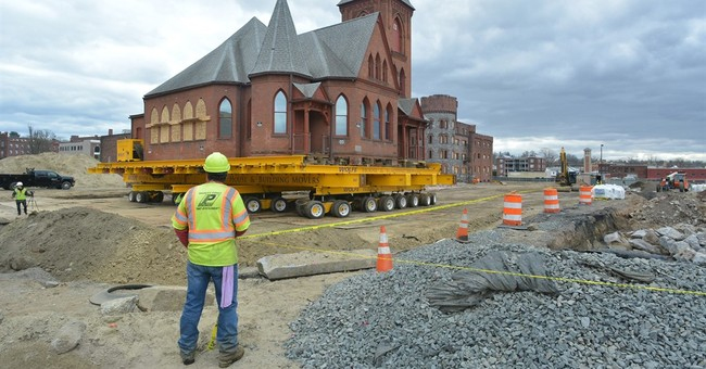 Massachusetts church being moved to make way for casino