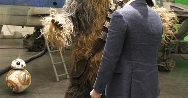 Empire strikes back: William, Harry visit 'Star Wars' set
