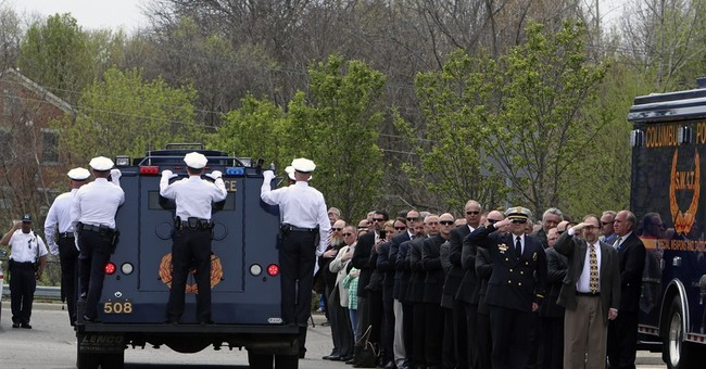 Thousands attend funeral for slain Ohio police officer