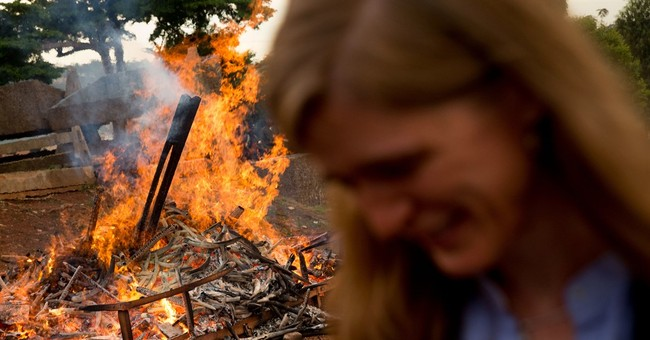 2,000 tusks aflame in large burn of poached wildlife goods