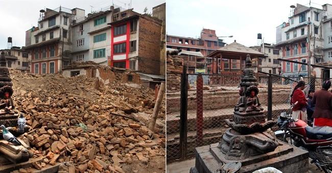 Virtually no gov't rebuilding 1 year after Nepal quake