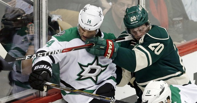 Spezza's skate lifts Stars past Wild 3-2 in Game 4