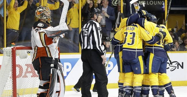 Road team again: Ducks beat Preds 4-1 to tie up series 2-2
