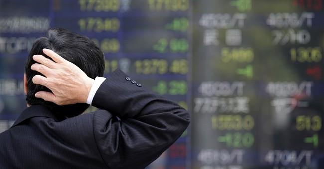 Global stocks lower after Wall Street snaps winning streak