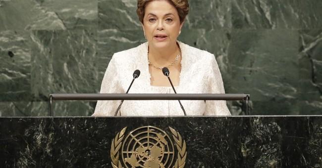 Brazil president ducks scandal talk, impeachment at UN