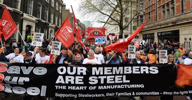One UK steel town, one crisis that affects the nation
